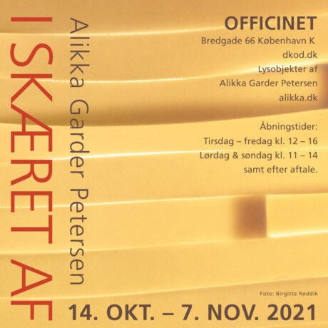 """Udstilling: """"I Skæret Af"""" 14 OKT – 7 NOV 2021"""